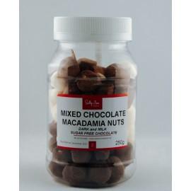 Mixed Chocolate Macadamia Nuts sugar-free 250g
